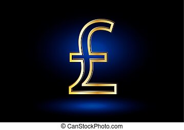 Pound symbol, Pound symbol icon on blue background