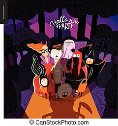 Halloween Party invitation card - Halloween Party card with...