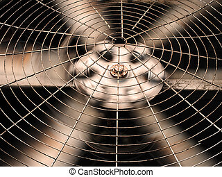 HVAC (Heating, Ventilation and Air Conditioning) spining...