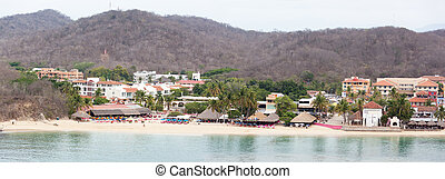 Mexican Resort Panorama - The panoramic view of Bahia de...
