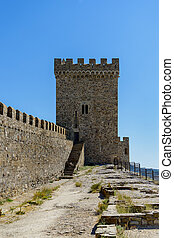 Genoese fortress - The ruins of the Genoese fortress in...