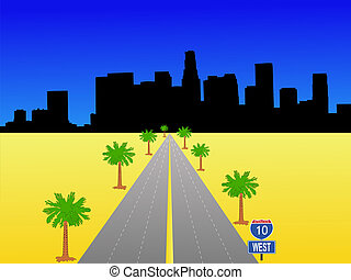 Los Angeles with interstate
