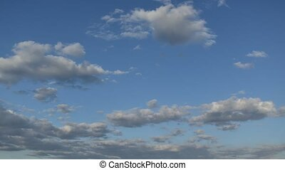 Timelapse of Clouds and Blue Sky - Timelapse with Clouds and...