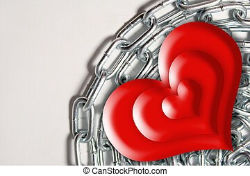 background chain with heart
