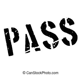 Pass rubber stamp