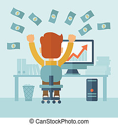 Successful Businessman with a Lot of Money. - A successful...