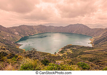 View Of Quilotoa Lake, Ecuador