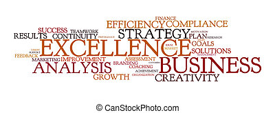 word cloud for business and excellence