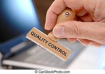 quality control printed on rubber stamp