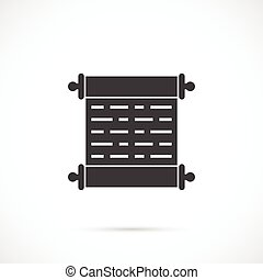 Scroll vector icon - Scroll icon on white background