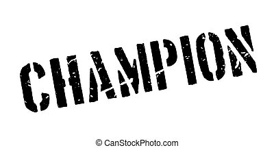 Champion rubber stamp on white. Print, impress, overprint....