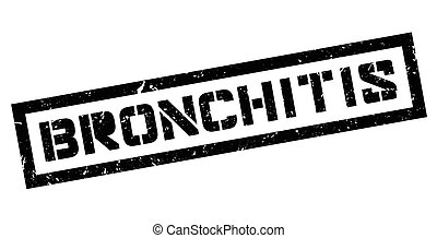Bronchitis rubber stamp on white. Print, impress, overprint.