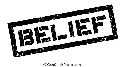 Belief rubber stamp on white. Print, impress, overprint.