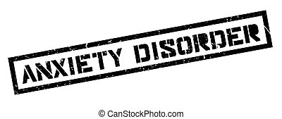 Anxiety Disorder rubber stamp on white. Print, impress,...