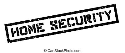 Home Security rubber stamp on white. Print, impress,...