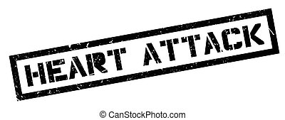 Heart Attack rubber stamp on white Print, impress, overprint...