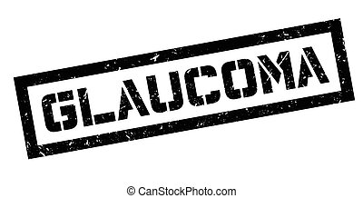 Glaucoma rubber stamp on white. Print, impress, overprint....