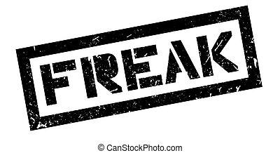 Freak rubber stamp on white. Print, impress, overprint. Sign...