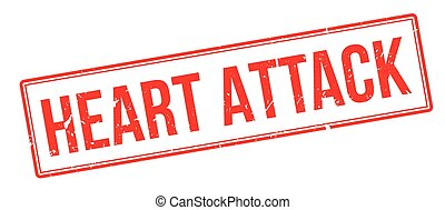 Heart Attack rubber stamp on white. Print, impress,...