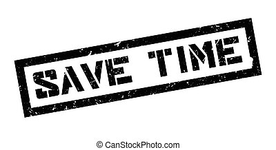 Save time rubber stamp