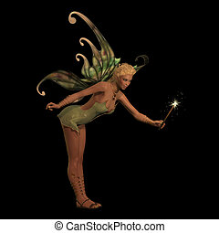 Fairy Anouk on Black - A fairy is a creature of folklore and...