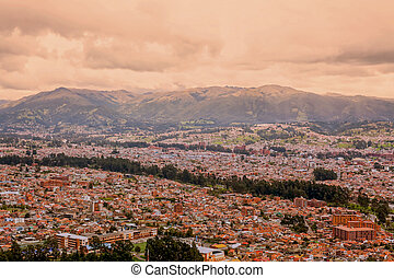 Aerial View Of The Cuenca City, Ecuador - Aerial View Of The...