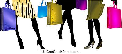 Ladies to go shopping