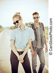 jeans unisex - Fashionable models wearing jeans clothes...