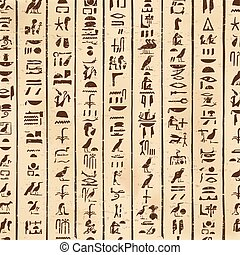 Vector Egyptian hieroglyphs. - Vector illustration of...