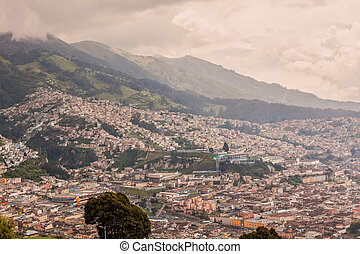 Aerial View Of Quito, Latin America - Aerial View Of Quito,...