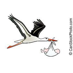 stork childbirth