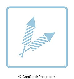 Party petard  icon. Blue frame design. Vector illustration.