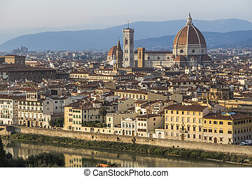 historic center of Florence - Urban landscape - the historic...