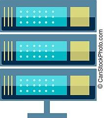 Internet data center server - Vector high tech internet data...
