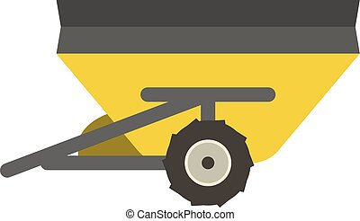 Farm trailer vector illustration. - Agricultural farm...