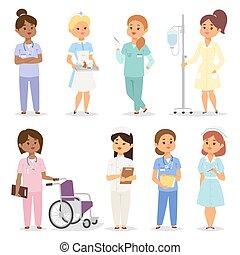 Nurses character vector set.