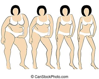Women on the way to lose weight