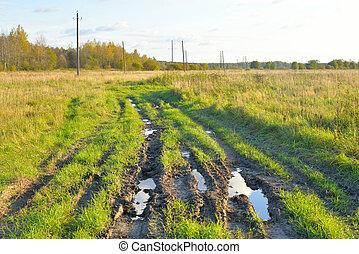 Dirty rural road.