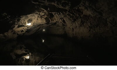 Karst cave water tour in Trang An, Vietnam - Rowboat sailing...
