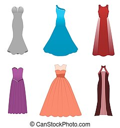 Fashionable dresses for graduation ball, party, soiree,...