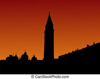 St Marks Square Venice at sunrise - St Mark\'s Square with...