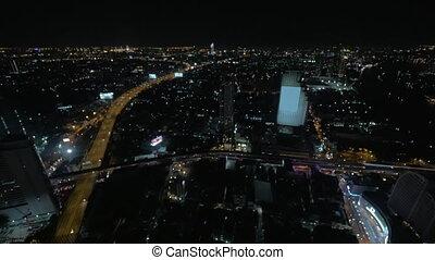 Evening panorama of Bangkok, Thailand