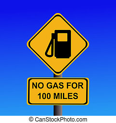 no gas for 100 miles sign - American warning no gas for 100...