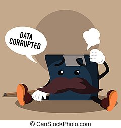 floppy disk's data corrupted