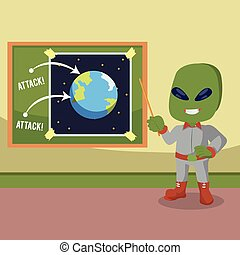 alien planning to attack earth