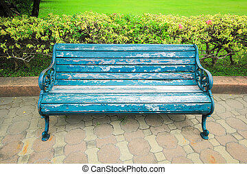 blue Bench in the park