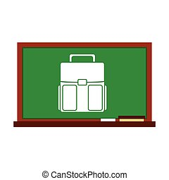 greenboard with school icon vector illustration design