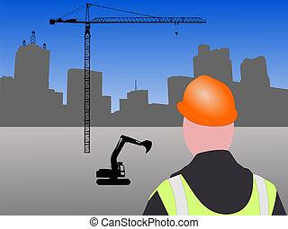 construção, local,  Dallas