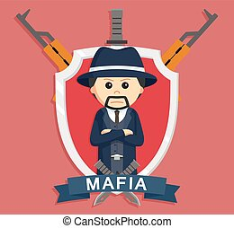 Mafia boss in emblem