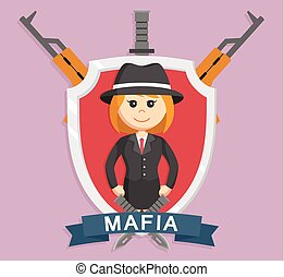Mafia girl in emblem